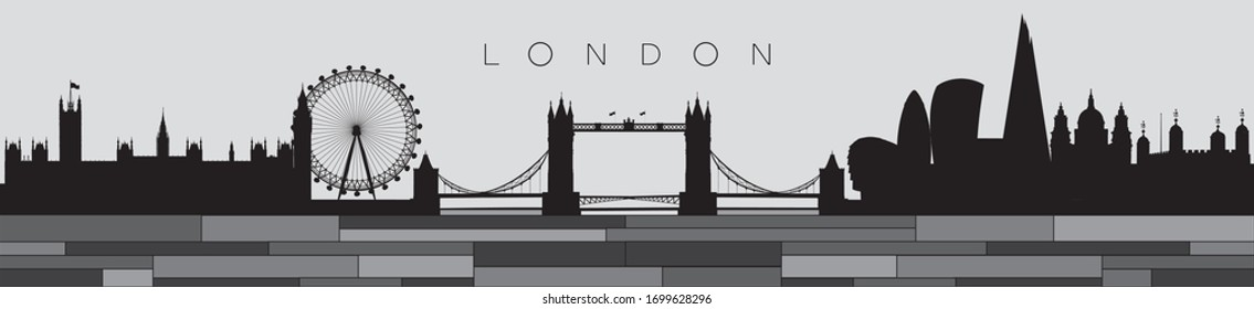 Vector illustration of the London skyline