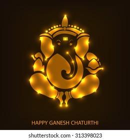Vector illustration of Lord Ganesh for Ganpati Chaturthi.