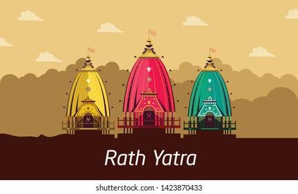 Vector Illustration of Lord Jagannath Puri Odisha God Rathyatra Festival