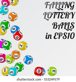 vector illustration of lottery balls.