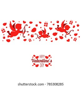 vector illustration love. February 14 Valentine's Day couples. design of the schedule for the holiday of all lovers.