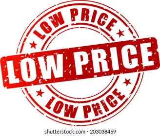 Vector illustration of low price stamp icon