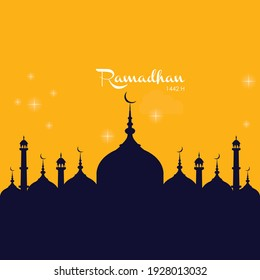 Vector illustration of luxury template, theme background, greeting card, baner, social media post, ramadhan.