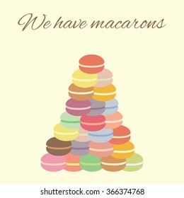 vector illustration / macarons pyramid