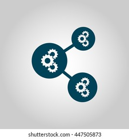 Vector Illustration Of Machine Learning Gear Algorithms Icon