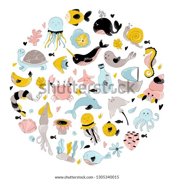 Peta Peta Sticker Collection Seaanimal