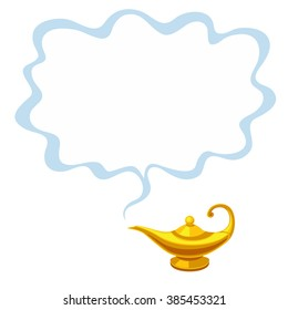 Vector illustration of magic lamp and space for text isolated on white background