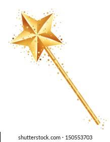 Vector illustration of magic wand
