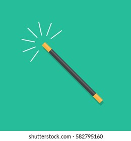 Vector illustration of magic wand.