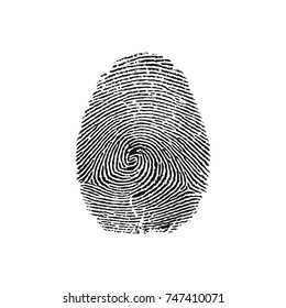 vector illustration of a magnifying glass over a fingerprint