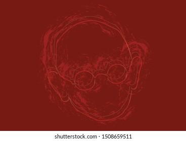 Vector Illustration of Mahatma Gandhi Father of Nation