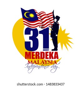 vector illustration. Malaysia Independence Day, the holiday of August 31. graphics for the design of posters, cards, brochures, flyers