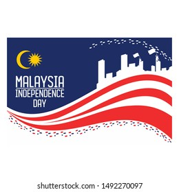 Vector Illustration of Malaysia's Independence day concept.