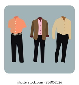 Vector illustration of male business suit