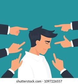 vector illustration man get bullying in his office
