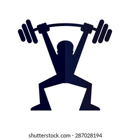 weight lifting symbol images stock photos vectors shutterstock rh shutterstock com olympic weightlifting logos weight lifting logos designs