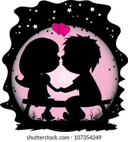 vector illustration of a man and woman in love