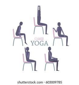 Chair Yoga Images Stock Photos Vectors Shutterstock