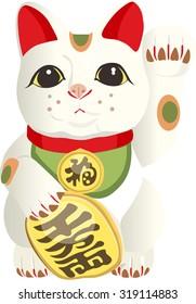Vector Illustration of a Maneki Neko