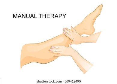 vector illustration of manual therapy. for medical publications
