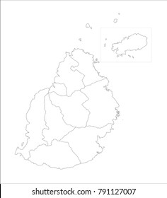Mauritius Map Outline Stock Illustrations, Images & Vectors ...