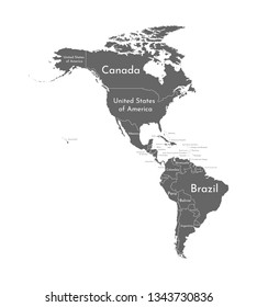 Map of Usa and South America Images, Stock Photos & Vectors ...