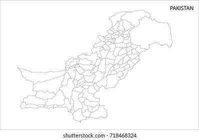 Pakistan Map Images, Stock Photos & Vectors | Shutterstock