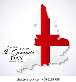 Vector illustration of a map for St George's Day.