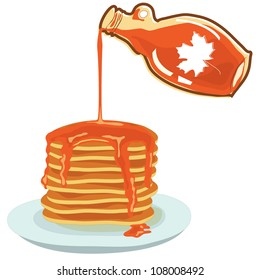 Vector illustration of maple syrup