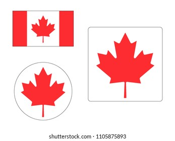 Vector illustration of Maps Set of Canada