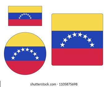 Vector illustration of Maps Set of Venezuela