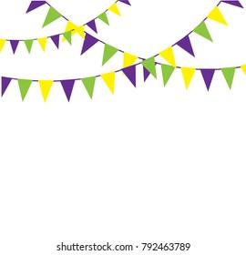vector illustration of mardi gras bunting background