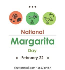 vector illustration for margarita day in February