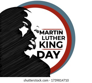 vector illustration for Martin Luther King Jr on abstracted background