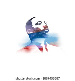 vector illustration for Martin Luther King Jr on abstract background