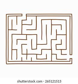 Vector illustration maze