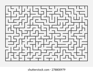 Vector illustration of maze / labyrinth. Isolated on white background, eps 8.