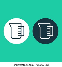 Vector illustration of measuring cup icon