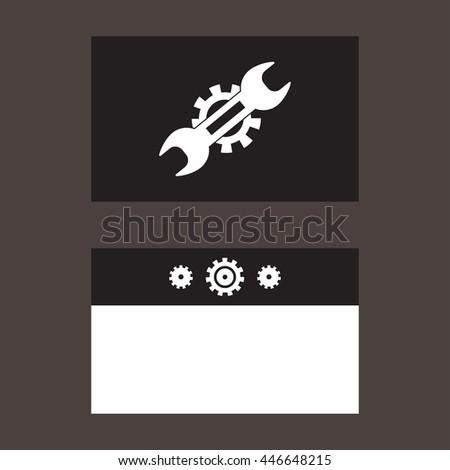 Vector Illustration Mechanic Business Card Mechanic Stock Vector