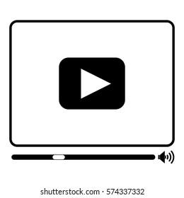 Vector Illustration of Media Player Icon in black