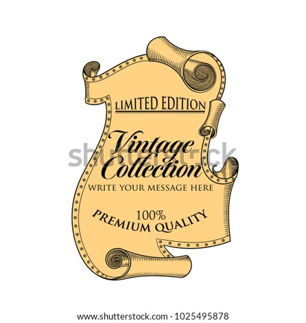 vector illustration medieval old scroll template stock vector