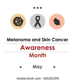 vector illustration / melanoma and skin cancer awareness month
