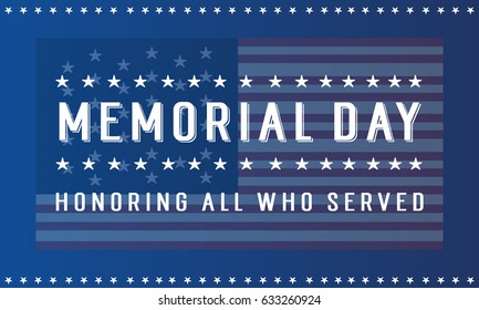 Vector illustration of memorial day style