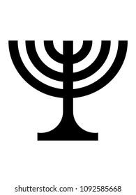 Vector illustration of a Menorah Symbol