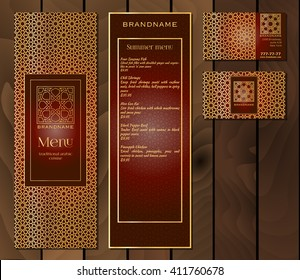 Indian Restaurant Menu Template Stock Illustrations Images
