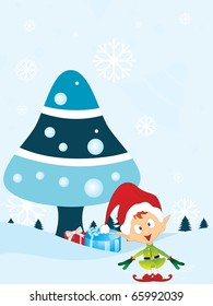 vector illustration for merry xmas celebration