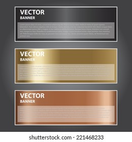 The Vector Illustration, Metal Banner for Design and Creative Work