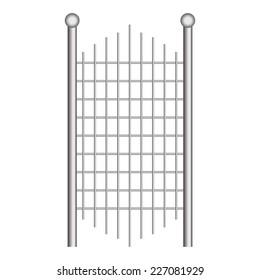 Vector illustration of Metal gates
