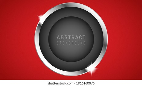 vector illustration of a metal plate with paper cut