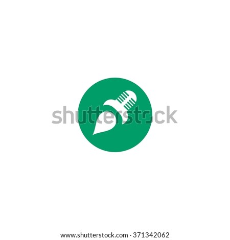 vector illustration mic design logo template stock vector royalty